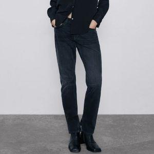 Zara premium straight split hem jeans